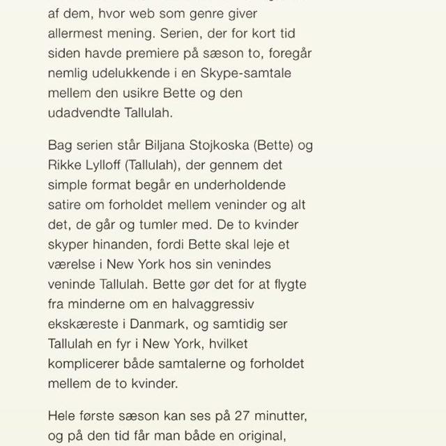 Soundvenue om Bette  Tallulah bettetallulah anbefaling seriefix sommerferie webserierhellip